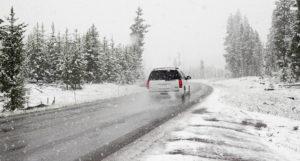 Řidič v zimě
